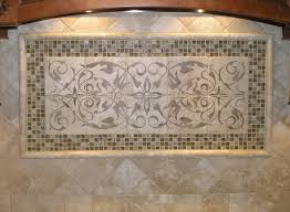 Mural Tiles For Kitchen Decor Kitchen Stunning Natural Stone Mural With Frame For Kitchen 79