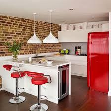 retro kitchen designs photos. modern open-plan red and white kitchen retro designs photos s
