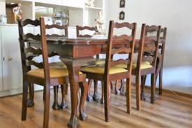 ball and claw imbuia dining table and chairs