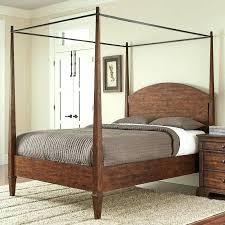 Black Wood Canopy Bed Wood Canopy Bed White King Black Frame Black ...