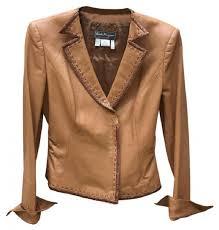 websites women s clothing jackets salvatore ferragamo leather camel leather jacket camel 2pa2t095