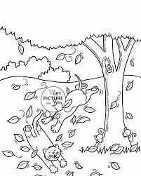 Small Picture Coloring Pages Kindergarten Fall Coloring Pages Free Printable