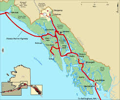 Southeast Alaska Chart Marine Highway Inside Passage Map
