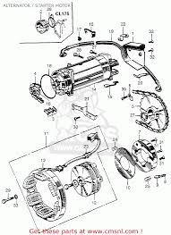 honda cl175 scrambler 1968 k0 usa alternator starter motor alternator starter motor schematic