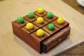 Wooden Game With Marbles Marble TicTacToe Game 82