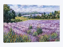 lavender fields by diane monet 1 piece canvas wall art  on lavender fields wall art with lavender fields canvas print by diane monet icanvas