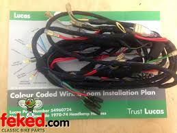 electrical wiring harness norton wiring harness genuine lucas main wiring harness norton commando 1970 74 lu54960723
