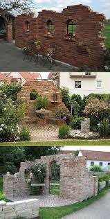 garden ideas with brick wall smart trik