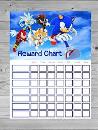 Sonic Reward Chart Chore Chart No Name