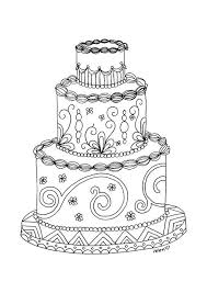 Small Picture 8 Name Paper Crafts Wedding cake adult coloring page