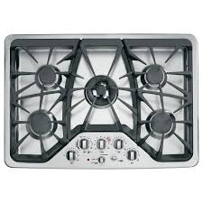 30 5 burner gas cooktop. Beautiful Gas GE Cafe 5Burner Gas Cooktop Stainless Steel Common 30 Intended 30 5 Burner 0