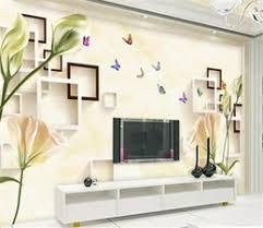 Tv wall box Wooden Tv Wall Box 2019 Custom Any Size 3d Wallpaper Marble Lily Box 3d Living Room Dhgatecom Discount Tv Wall Box Tv Wall Box 2019 On Sale At Dhgatecom