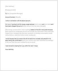 Letter Of Complain Energy Complaint Letter Money Matters