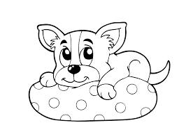 Honden Kleurplaat Chihuahua Ausmalbilder Hund Mit Knochen Hunde