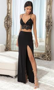 Skirts > Audrey Lace Maxi Set in Black