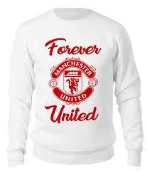 "Свитшот унисекс хлопковый ""<b>Манчестер Юнайтед</b>"" #2566799 от ..."