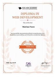 shaw academy web development diploma shaw academy web development
