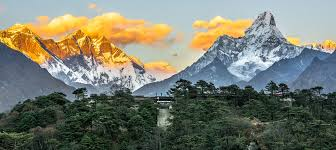 sunset at hotel everest view