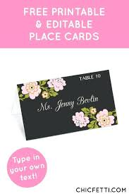 Wedding Place Cards Template For Microsoft Word Free Card Instant