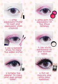 thanks to ichigoflavor for this kawaii eye makeup tutorial using beuberry teddy bear pink circle lenses
