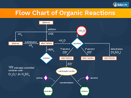 flow chart of organic reactions
