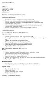 resume for factory worker resume factory resume examples