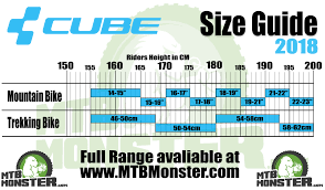 Bicycle Frame Size Chart Cube Bikes Size Guide What Size Frame Do I Need