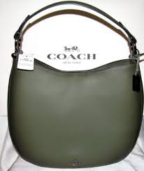 Coach Burnished Glovetanned Leather Nomad Hobo Crossbody Bag SURPLUS GREEN  37905