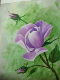 Myra Reeves painted the rose with a soft green background Love the more  mauve color of the flower. Imagination at its best… | Painting, Cool  paintings, Student art