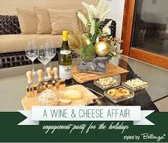 A Wine and Cheese Party Display for a Holiday Christmas Engagement Party |  Bellenza Wedding Bistro