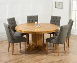 round pedestal kitchen table. Torino 150cm Solid Oak Round Pedestal Dining Table With Pacific Fabric Chairs Kitchen