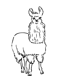 Print Coloring Pages Animal Llama Free | Animal Coloring pages of ...