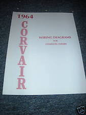 1964 corvair manual ebay 1964 Corvair Wiring Schematic 1964 chevrolet corvair wiring diagram manual schematic 1965 Corvair