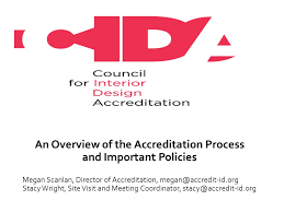 An Overview Of The Accreditation Process And Important Policies Inspiration Council Of Interior Design Accreditation