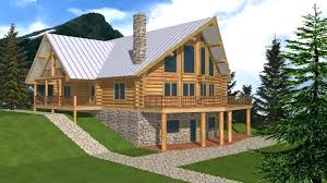 plans max designs mountain phenomenal ideas with angled garage style loft house rear view walkout basement