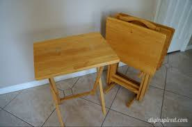 tv tray table upcycle diy inspired