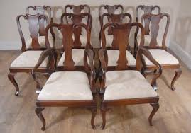 antique queen anne dining room set. mahogany queen anne dining chairs antique room set