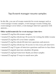 Event Manager Resume top100eventmanagerresumesamples100conversiongate100thumbnail100jpgcb=1100299100521007 24