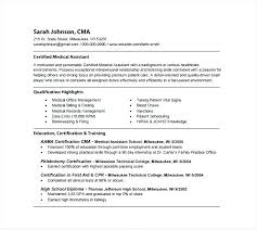 Certified Medical Assistant Resume Interesting Resume Of Medical Assistant Esdcubaco