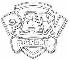 Logo Paw Patrol Disegni Da Colorare Gratis Per Bambini Paw Patrol