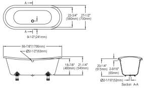 clawfoot tub dimensions. Standard Clawfoot Tub Dimensions Home Decor Laux F