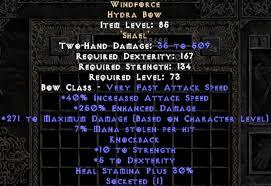 Diablo 2 Faith Matriarchal Bow