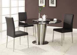 fine modern round glass dining tables d inside decor
