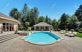 luxury home swimming pools. Simple Luxury Large Swimming Pool Of American Suburban Luxury House Northwest USA Stock  Photo  63736989 Intended Luxury Home Swimming Pools L