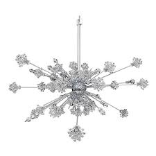 allegri by kalco constellation chrome 46 light 60 inch wide pendant with firenze clear crystal