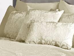 deluxe boston jacquard damask cushion cover in cream