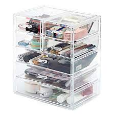 ezoware cosmetic storage organiser acrylic makeup cosmetic 7 drawer display storage box case for jewelry