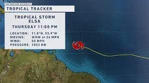 Tropical Storm Elsa strengthens ...