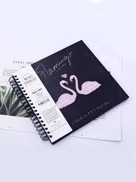 Tre Chic Hair Design 1pc Album Coil Design Flamingos Pattern Cover Sweet Photo Album