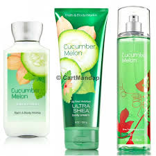 bath body works cuber melon deluxe gift set body lotion body cream